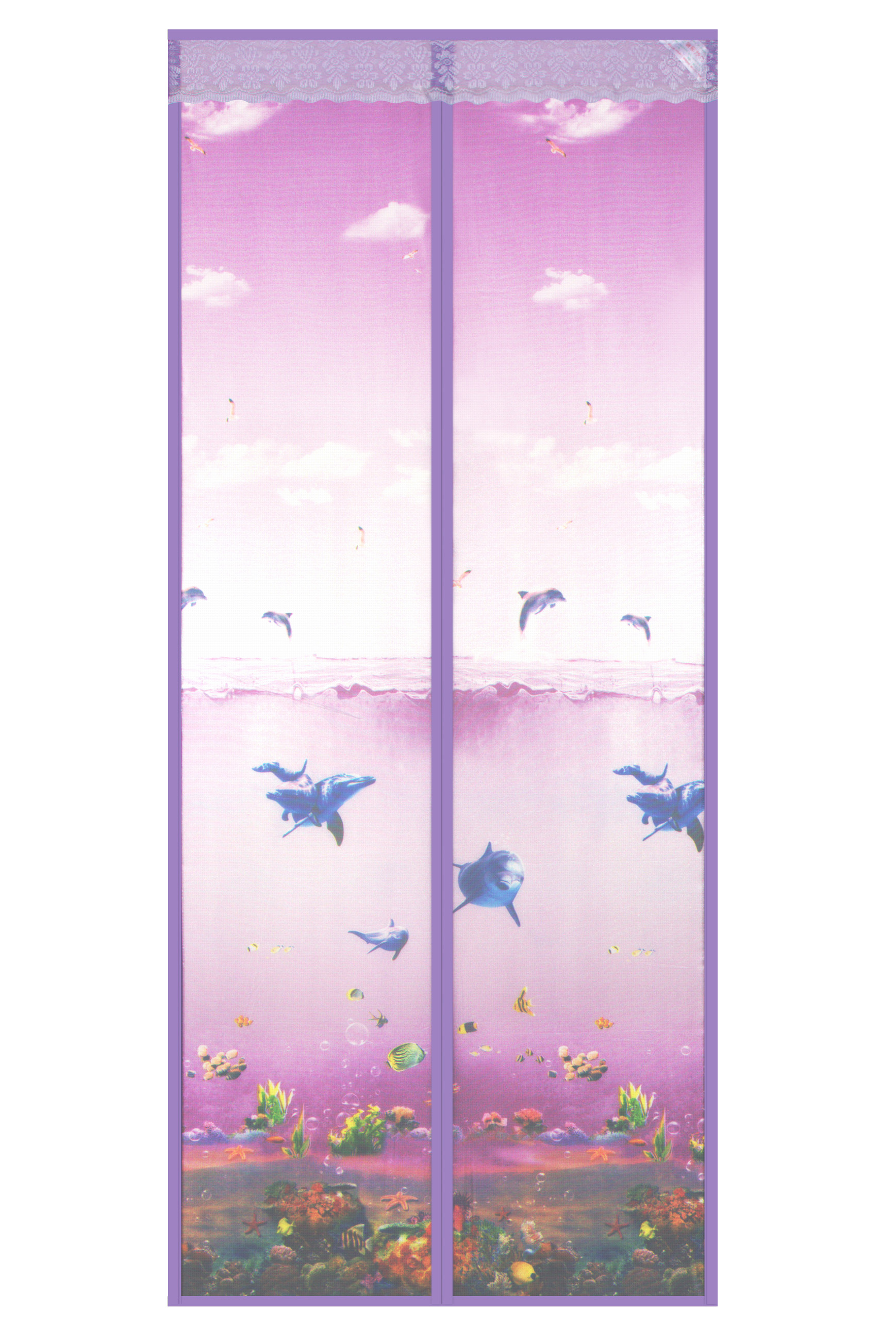 New magnetic soft curtain in 2020-Underwater world magnetic soft curtain-rose red