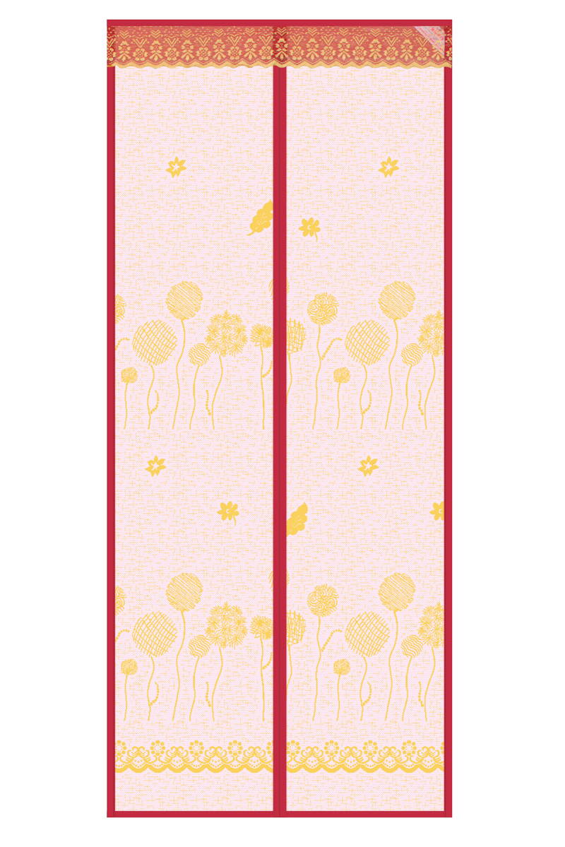 Striped cloth New 2020 Door curtain--Dandelion magnetic soft yarn Door curtain-rose red